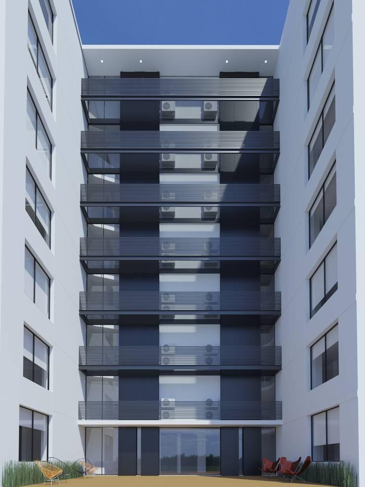 Edificio Chrestia: Terrazas de estilo  por D+D Studio,