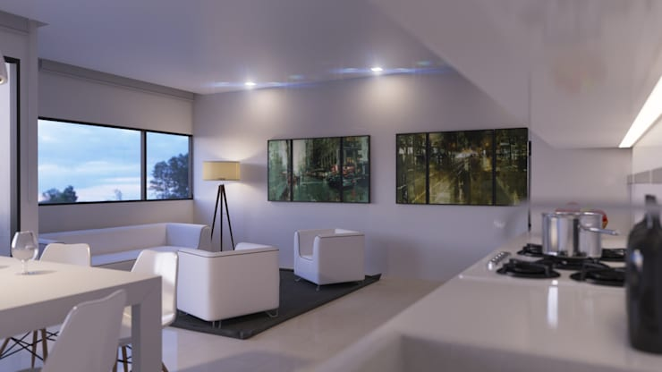 Edificio Chrestia: Livings de estilo  por D+D Studio,
