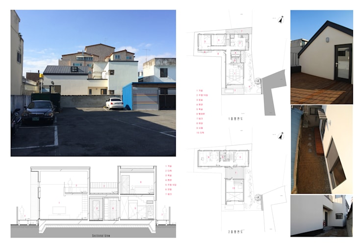 관효재(전주주택): hueau의  주택