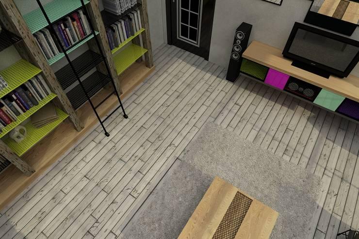Update İç Mimarlık – Emre & Cansu Evi:  tarz Duvarlar, Rustik Ahşap Ahşap rengi