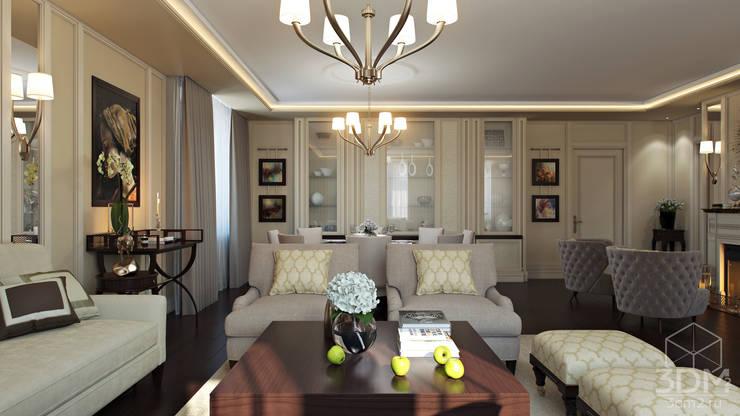 Проект 014: интерьер частного дома: Гостиная в . Автор – студия визуализации и дизайна интерьера '3dm2'
