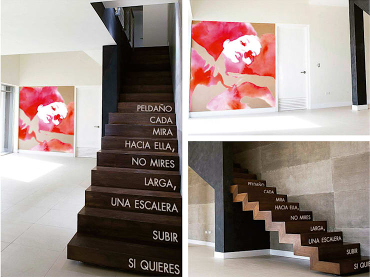 Vestíbulos, pasillos y escaleras de estilo  por Trestepintan