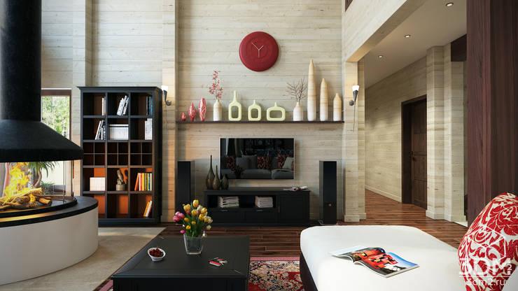 студия визуализации и дизайна интерьера '3dm2'의  거실
