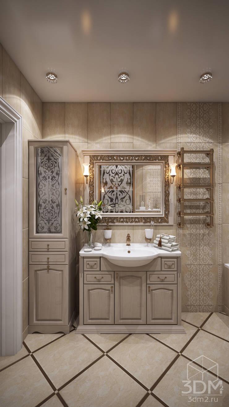 Проект 013: лоджии + ванная: Ванные комнаты в . Автор – студия визуализации и дизайна интерьера '3dm2'