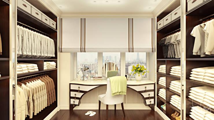 Проект 014: интерьер частного дома: Гардеробные в . Автор – студия визуализации и дизайна интерьера '3dm2'