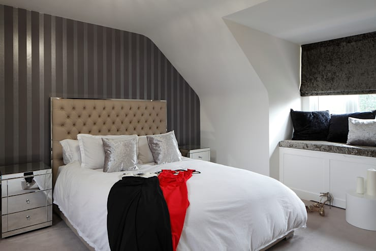 New Build Contemporary Interior Design Ealing :  Bedroom by Quirke McNamara