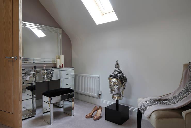 New Build Contemporary Interior Design Ealing :  Dressing room by Quirke McNamara