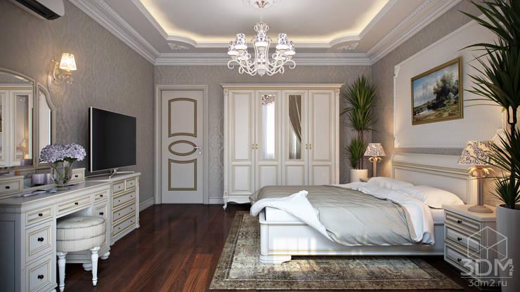 Проект 035: спальня: Спальни в . Автор – студия визуализации и дизайна интерьера '3dm2'