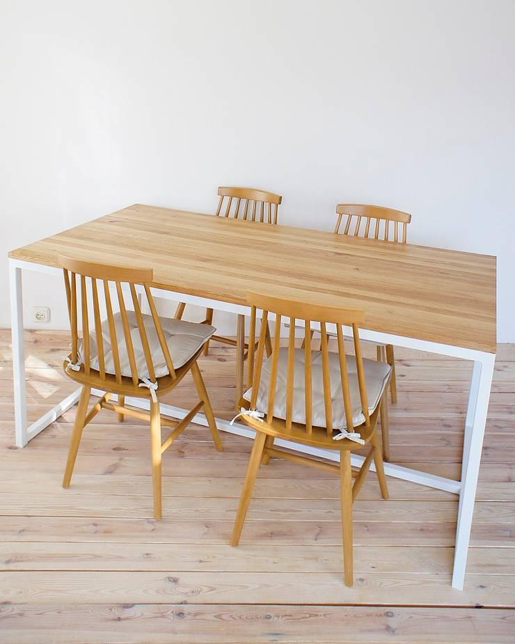 Stół, biurko, Industrial White Oak: styl , w kategorii Kuchnia zaprojektowany przez projekt drewno