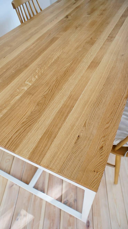 Stół, biurko, Industrial White Oak: styl , w kategorii Domowe biuro i gabinet zaprojektowany przez projekt drewno