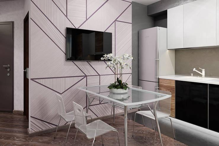 Визуализации проекта квартиры для Марины: Кухни в . Автор – Alyona Musina