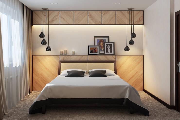 Визуализации проекта квартиры для Марины: Спальни в . Автор – Alyona Musina