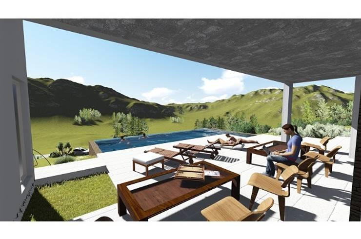 Vivienda Altos Aires Golf – Tandil 2015: Terrazas de estilo  por trazos urbanos