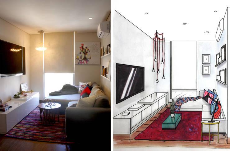 Depto Levant :  de estilo  por Nomada Design Studio