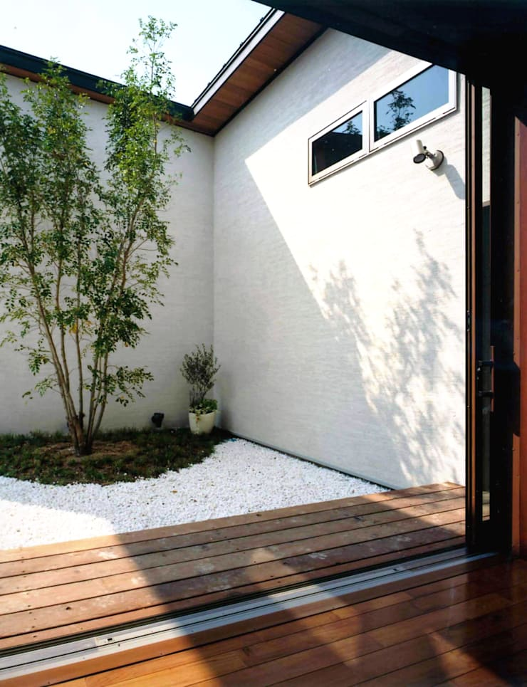 House of the big roof: Sakurayama-Architect-Designが手掛けた庭です。,モダン