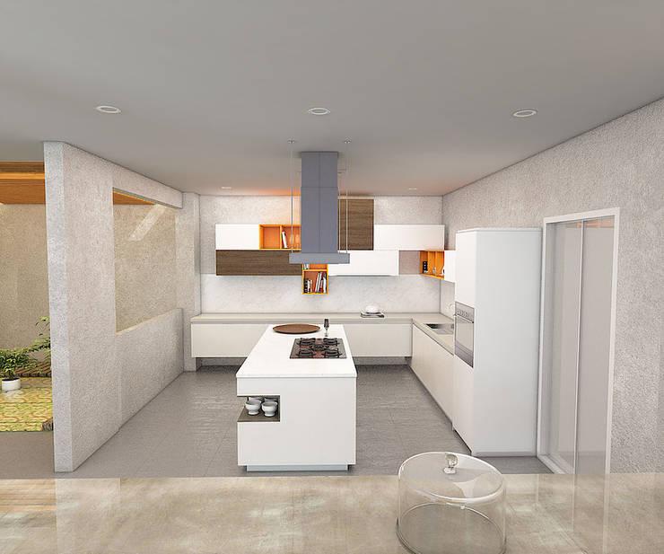 Casa Palermo: Cocinas de estilo  por Politan Arquitectura+Diseño S.A.S.