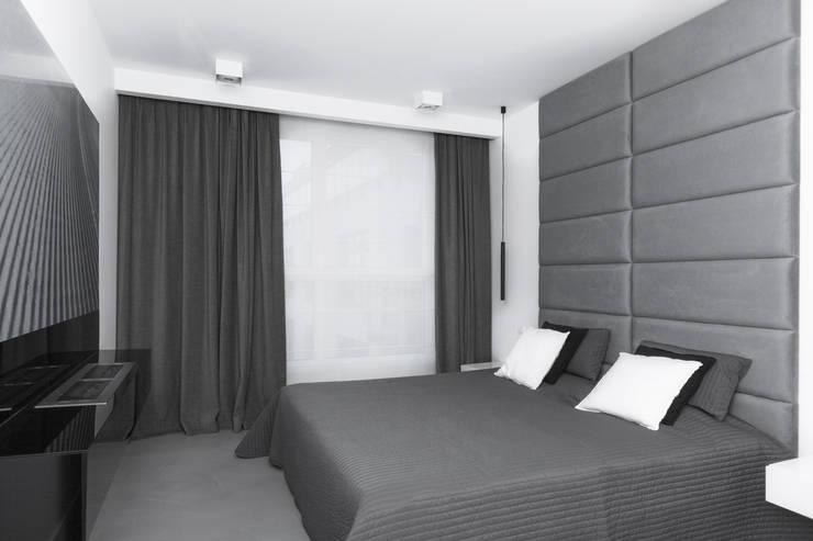 Projekt mieszkania na Wilanowie: styl , w kategorii Sypialnia zaprojektowany przez Base Architekci