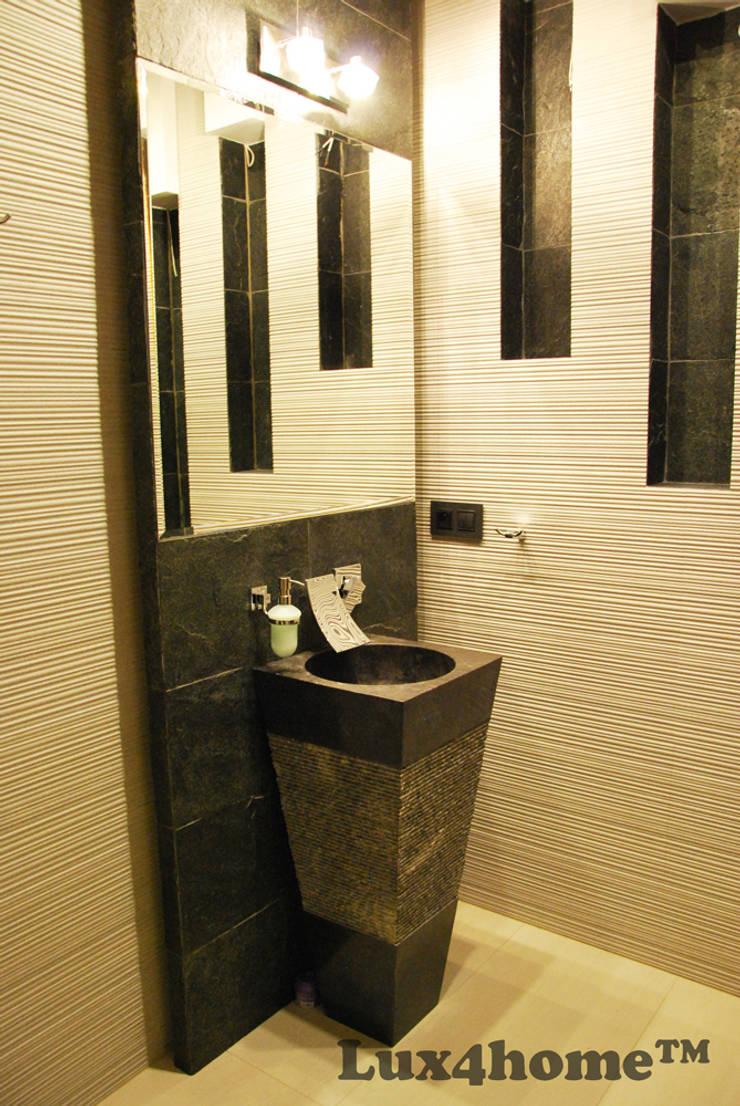 Stojąca umywalka z kamienia - wolnostojące umywalki marmurowe: styl , w kategorii Łazienka zaprojektowany przez Lux4home™
