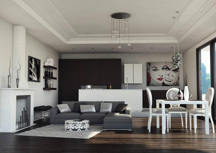 modern Living room by asf