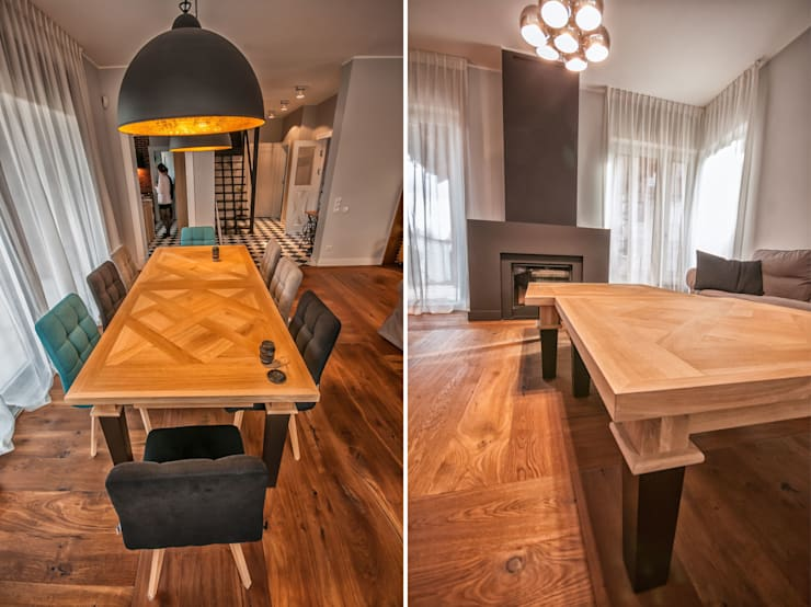 Rustykalna Posiadłość: styl , w kategorii Jadalnia zaprojektowany przez Pracownia Architektury Wnętrz Hanny hildebrandt