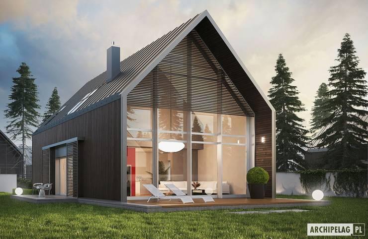 PROJEKT DOMU EX 13 - nowoczesna stodoła w najlepszym wydaniu! : styl , w kategorii Domy zaprojektowany przez Pracownia Projektowa ARCHIPELAG