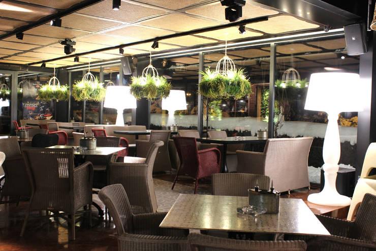 Marionette Bar & Dinner: Paredes  por Strong Wood Floors