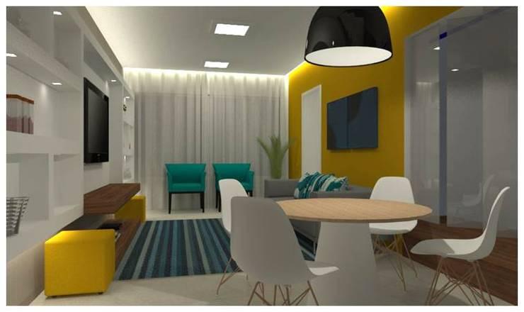 Residência Mooca: Salas de jantar modernas por Politi Matteo Arquitetura