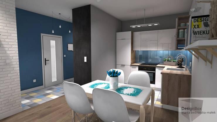 Mieszkanie pod wynajem, Warszawa: styl , w kategorii Kuchnia zaprojektowany przez Designbox Marta Bednarska-Małek,Skandynawski