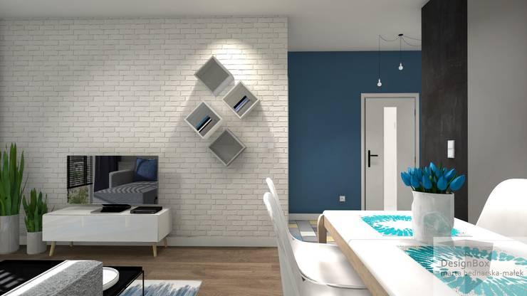 Mieszkanie pod wynajem, Warszawa: styl , w kategorii Salon zaprojektowany przez Designbox Marta Bednarska-Małek,Skandynawski