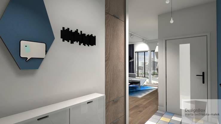 Mieszkanie pod wynajem, Warszawa: styl , w kategorii Korytarz, przedpokój zaprojektowany przez Designbox Marta Bednarska-Małek,Skandynawski