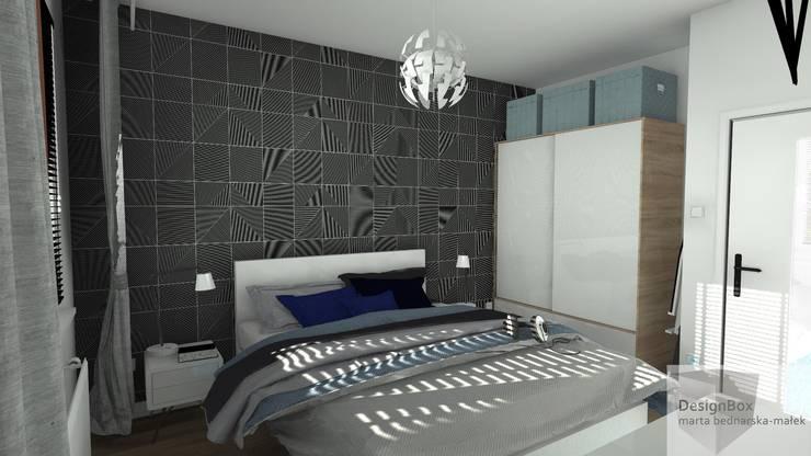 Mieszkanie pod wynajem, Warszawa: styl , w kategorii Sypialnia zaprojektowany przez Designbox Marta Bednarska-Małek,Skandynawski