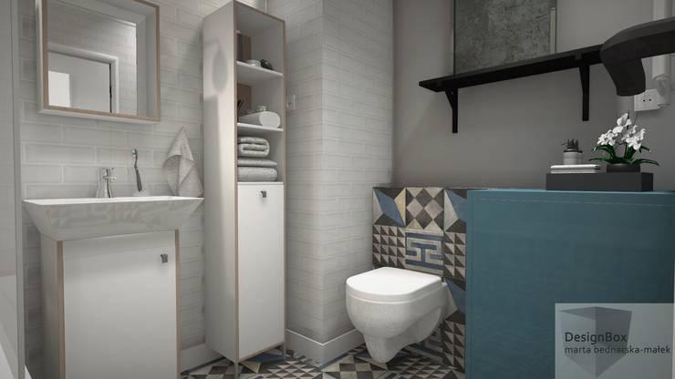 Mieszkanie pod wynajem, Warszawa: styl , w kategorii Łazienka zaprojektowany przez Designbox Marta Bednarska-Małek,Skandynawski