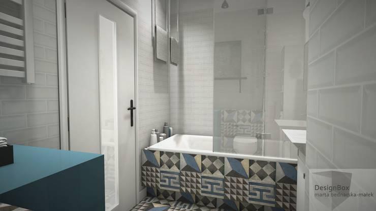 Mieszkanie pod wynajem, Warszawa: styl , w kategorii Łazienka zaprojektowany przez Designbox Marta Bednarska-Małek