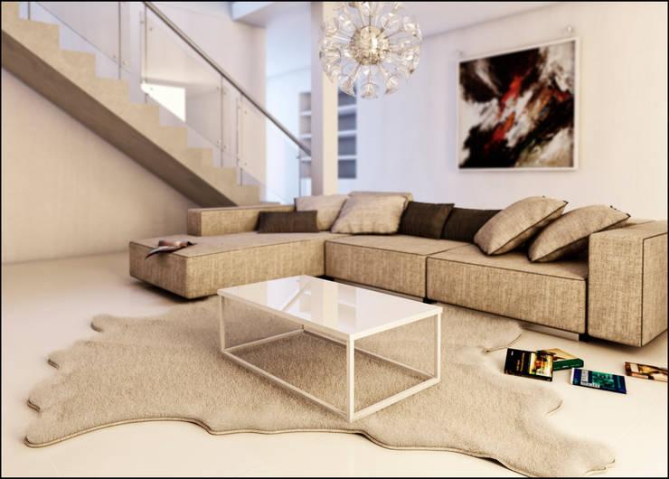 Mesa Brenta: Livings de estilo  por Torina Mobiliario,