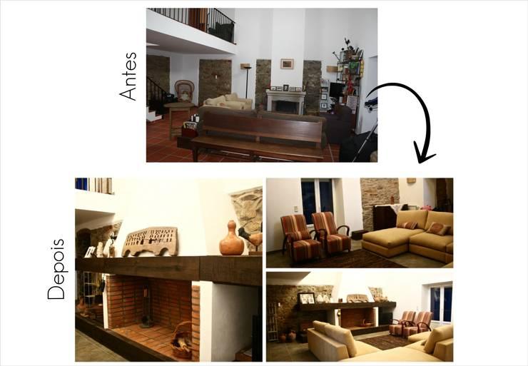 Sala de Estar e Lareira:   por Jorge Feio, Arquitecto