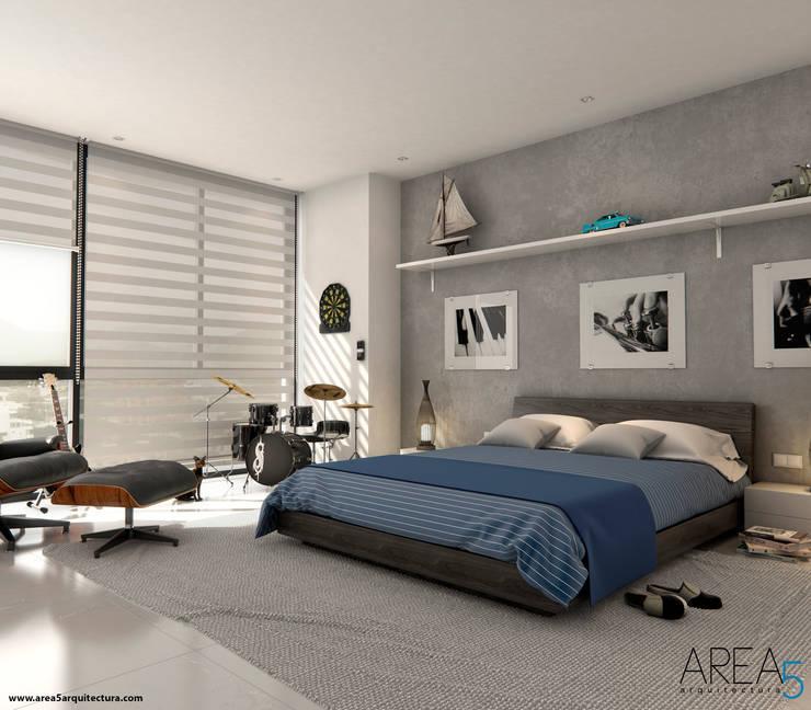 Morano Mare - Alcoba secundaria: Habitaciones de estilo  por Area5 arquitectura SAS