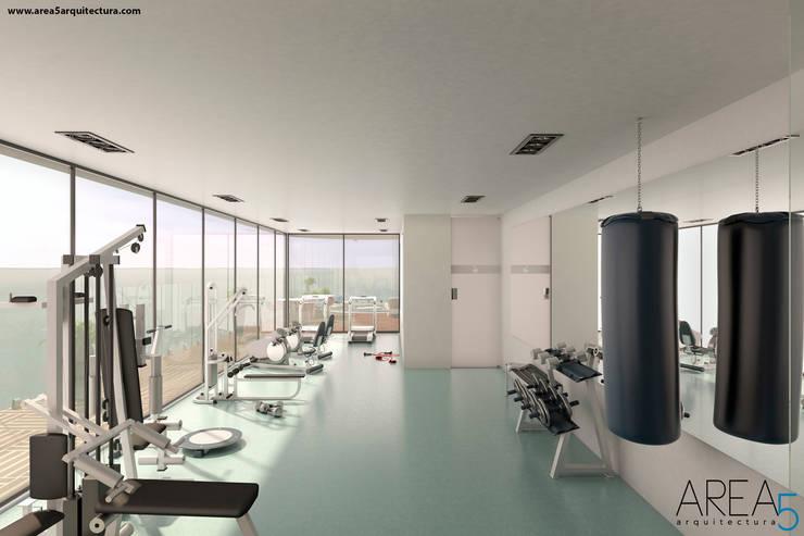 Morano Mare - Gimnasio: Gimnasios  de estilo  por Area5 arquitectura SAS