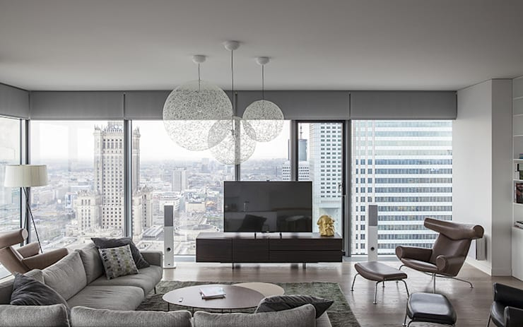 Apartament w Śródmieściu: styl , w kategorii Salon zaprojektowany przez Zofia Wyganowska