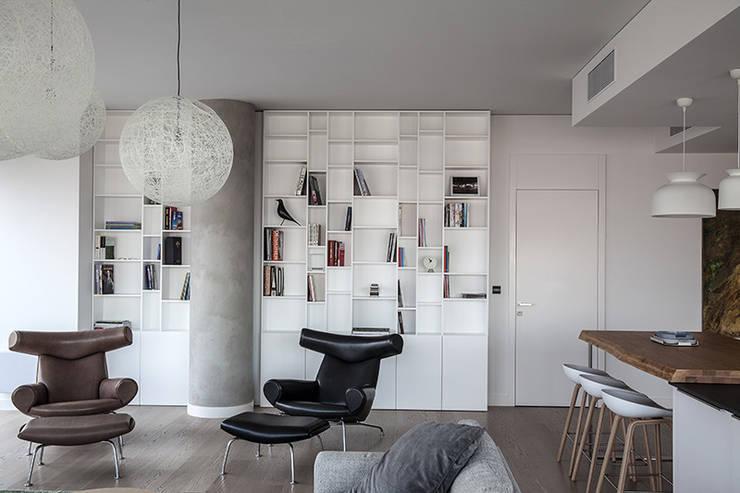 Apartament w Śródmieściu: styl , w kategorii Salon zaprojektowany przez Zofia Wyganowska,Nowoczesny