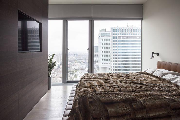 Apartament w Śródmieściu: styl , w kategorii Sypialnia zaprojektowany przez Zofia Wyganowska,Nowoczesny