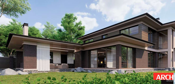 Lloyd Wright style: Дома в . Автор – ARCH INNOVATION GROUP