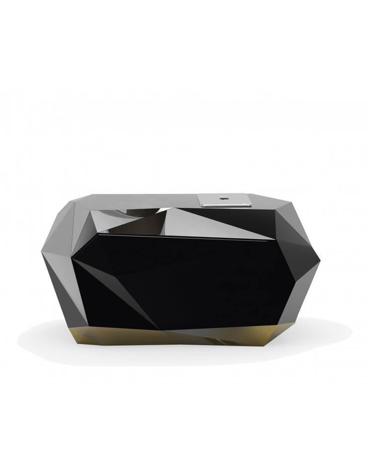 DIAMOND Nightstand: Quarto  por Be-Luxus