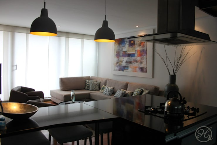 Espacios Interiores: Salas de estilo  por Home Reface - Diseño Interior CDMX