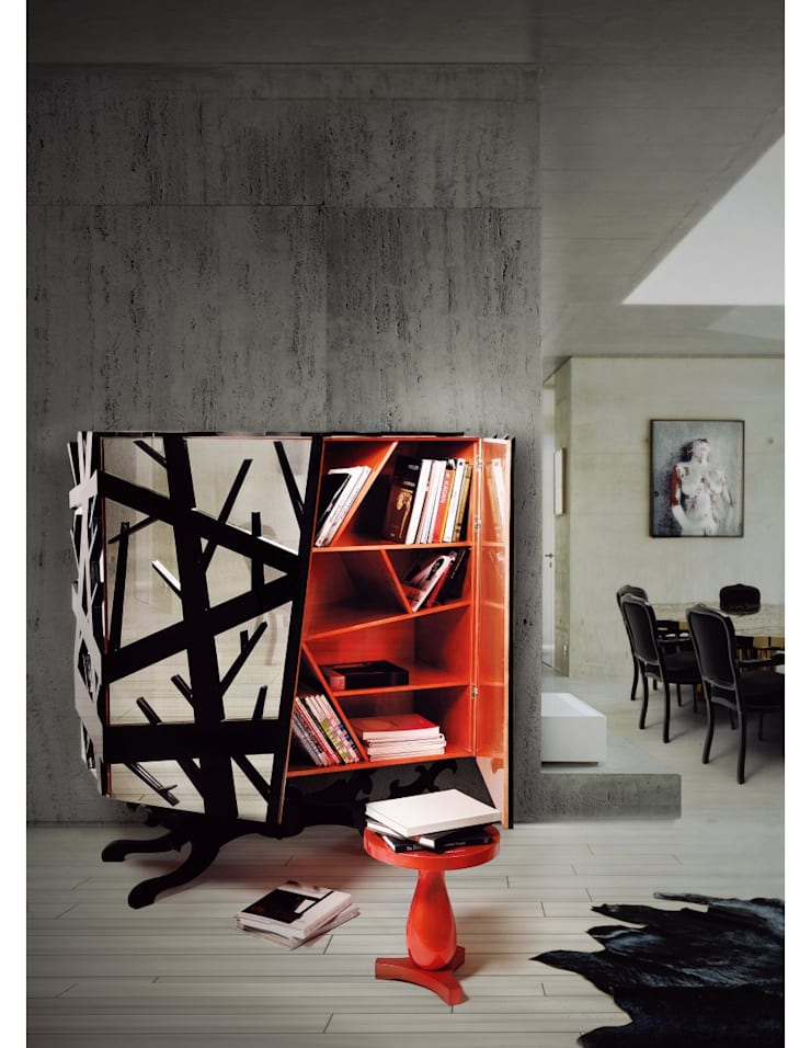 FOREST Cabinet: Sala de estar  por Be-Luxus