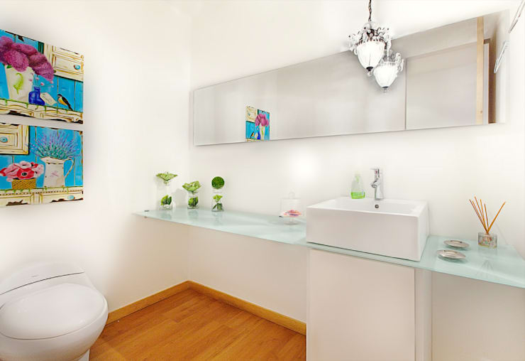 Baños de estilo  por Cristina Cortés Diseño y Decoración