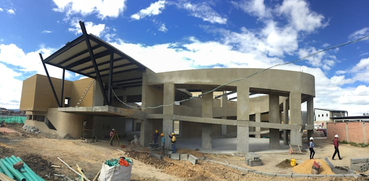 Mega hogar comunitario de Tocancipa:  de estilo  por OGGETTO ARQUITECTOS