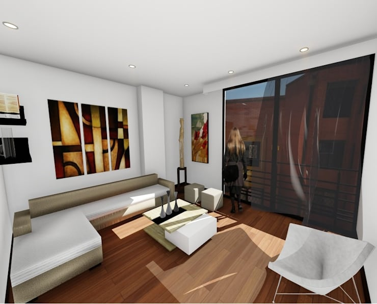 Living room by OGGETTO ARQUITECTOS , Modern