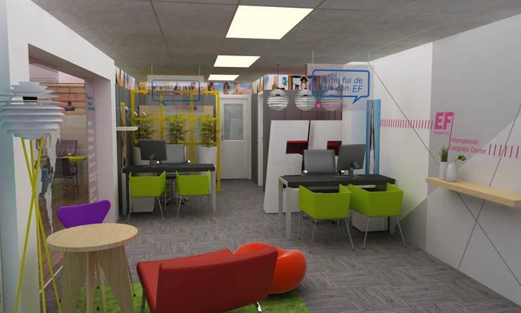 Sede EF Punto Fijo: Oficinas y Tiendas de estilo  por NSM Aquitectura