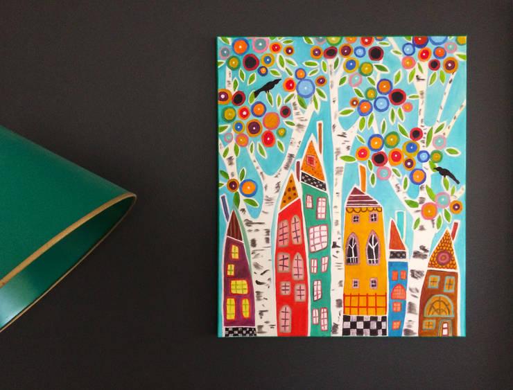 PAINTBYMGB – Renkli köy:  tarz Sanat