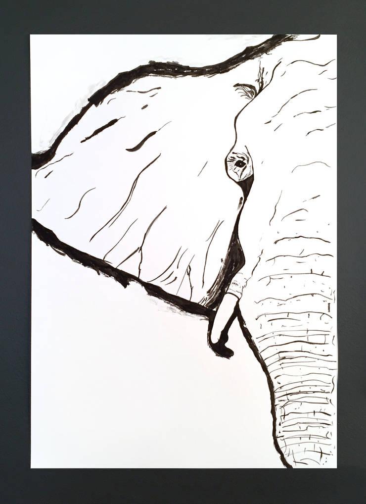PAINTBYMGB – Elephant sketch:  tarz Sanat